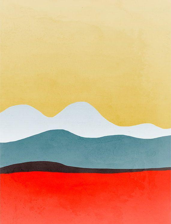 Mid Century Modern Art, Abstract Art Set of 3 Prints, Wall Art Set ...