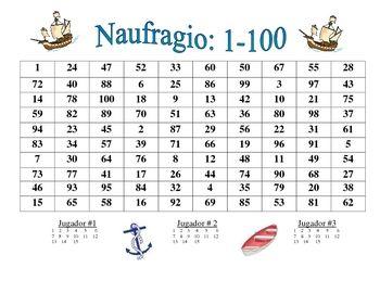 Spanish Numbers 1-100 Activity (Naufragio) | Number activities ...