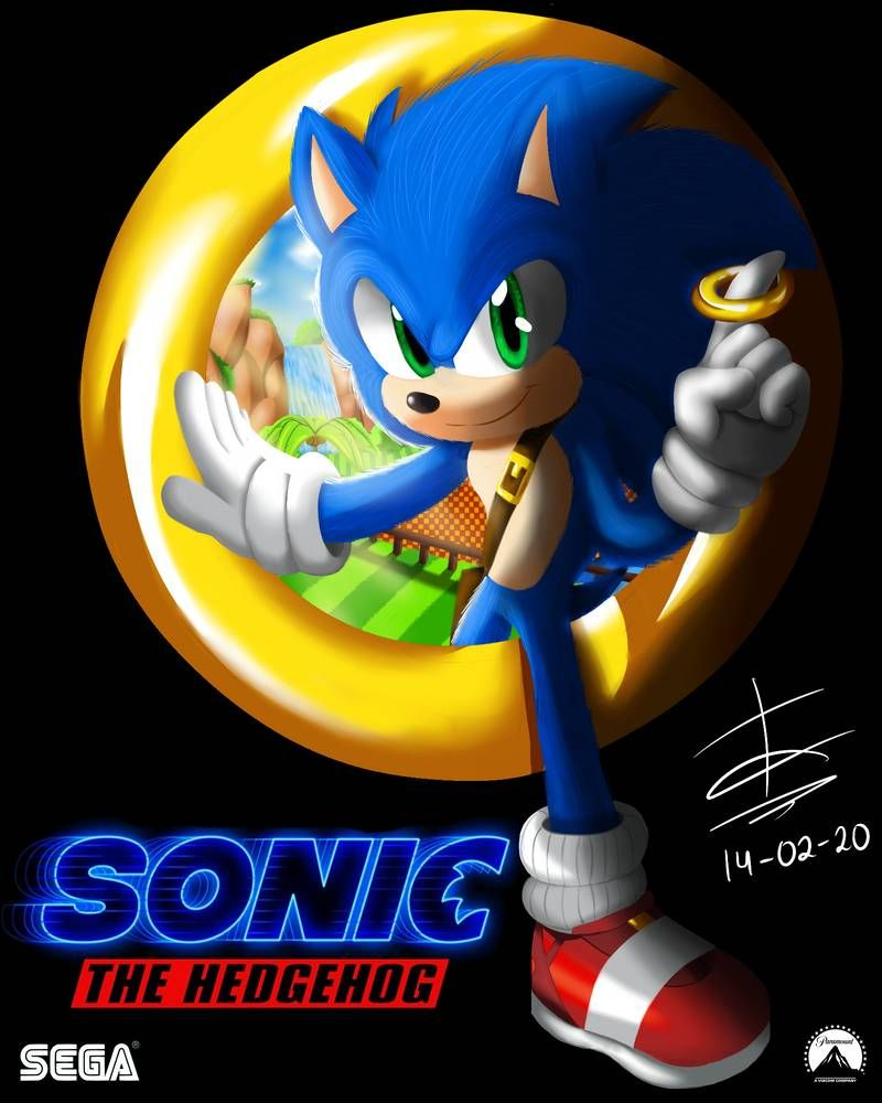 Sonic The Hedgehog The Movie Poster By Axeldric On Deviantart In 2020 Sonic Sonic The Hedgehog Hedgehog