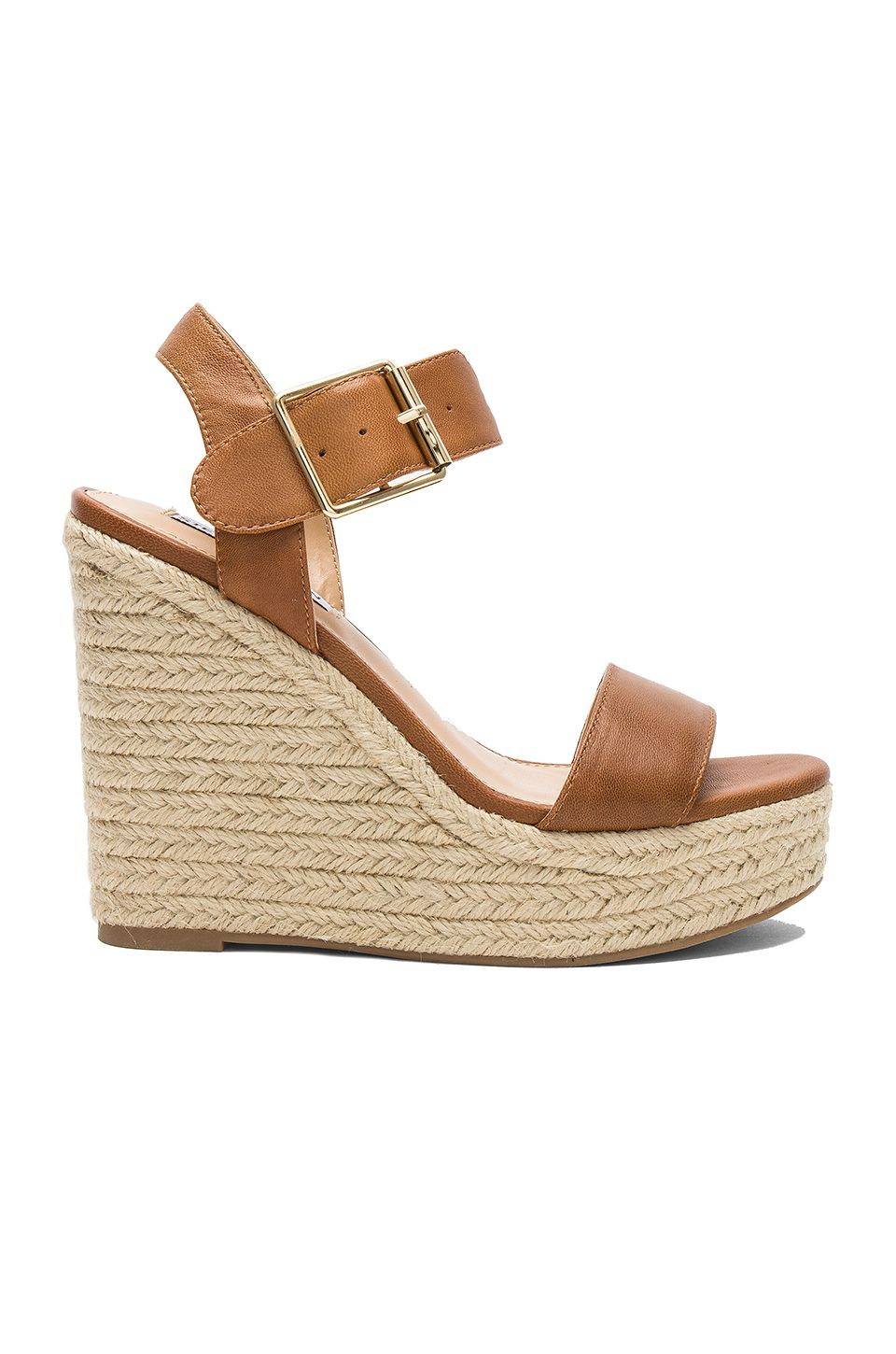a2f89caa8db Steve Madden Santorini Sandal in Cognac Leather | Wedges in 2019 ...