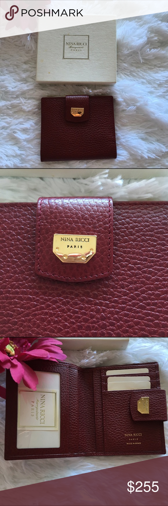 Vintage Nina Ricci Paris Wallet New In Box Gorgeous Designer Wallet That Is Brand New And Perfect In Every Way Th Nina Ricci Bag Designer Wallets Nina Ricci