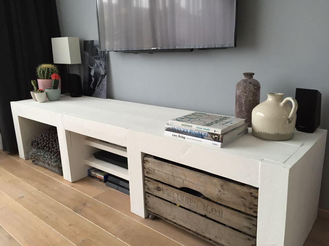 Steigerhout tv meubel interieur pinterest tvs tv for Steigerhout tv meubel