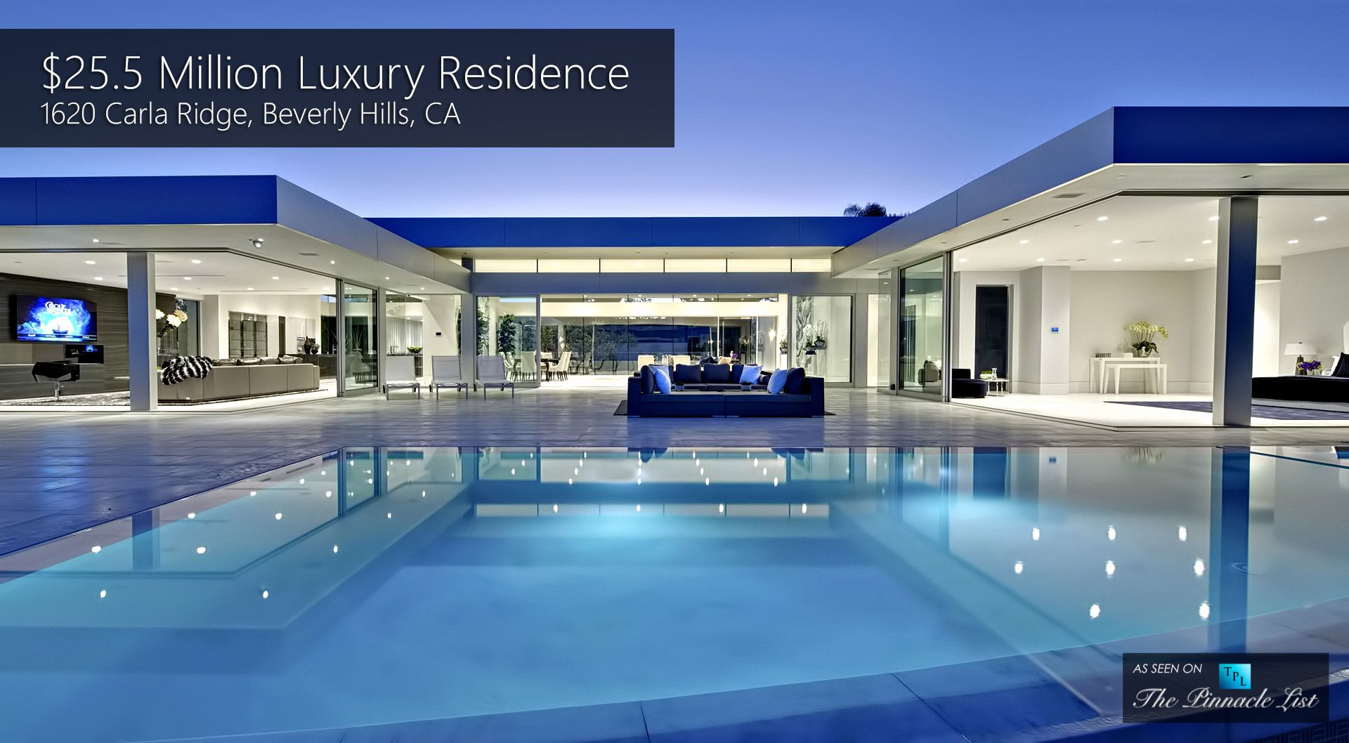 25 5 million luxury residence 1620 carla ridge beverly for Luxury houses in beverly hills
