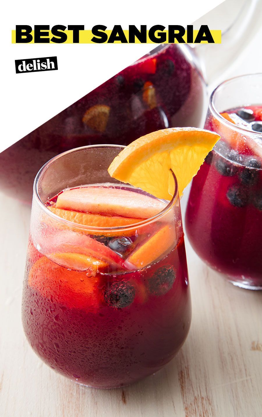 This Refreshing Red Sangria Is Perfect For Sipping Poolside Recipe In 2020 Easy Sangria Recipes Red Sangria Recipes Red Sangria