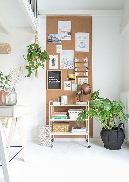 paredes de corcho | Decoración de oficina en casa, Interiores de casa,  Diseño de oficina en casa