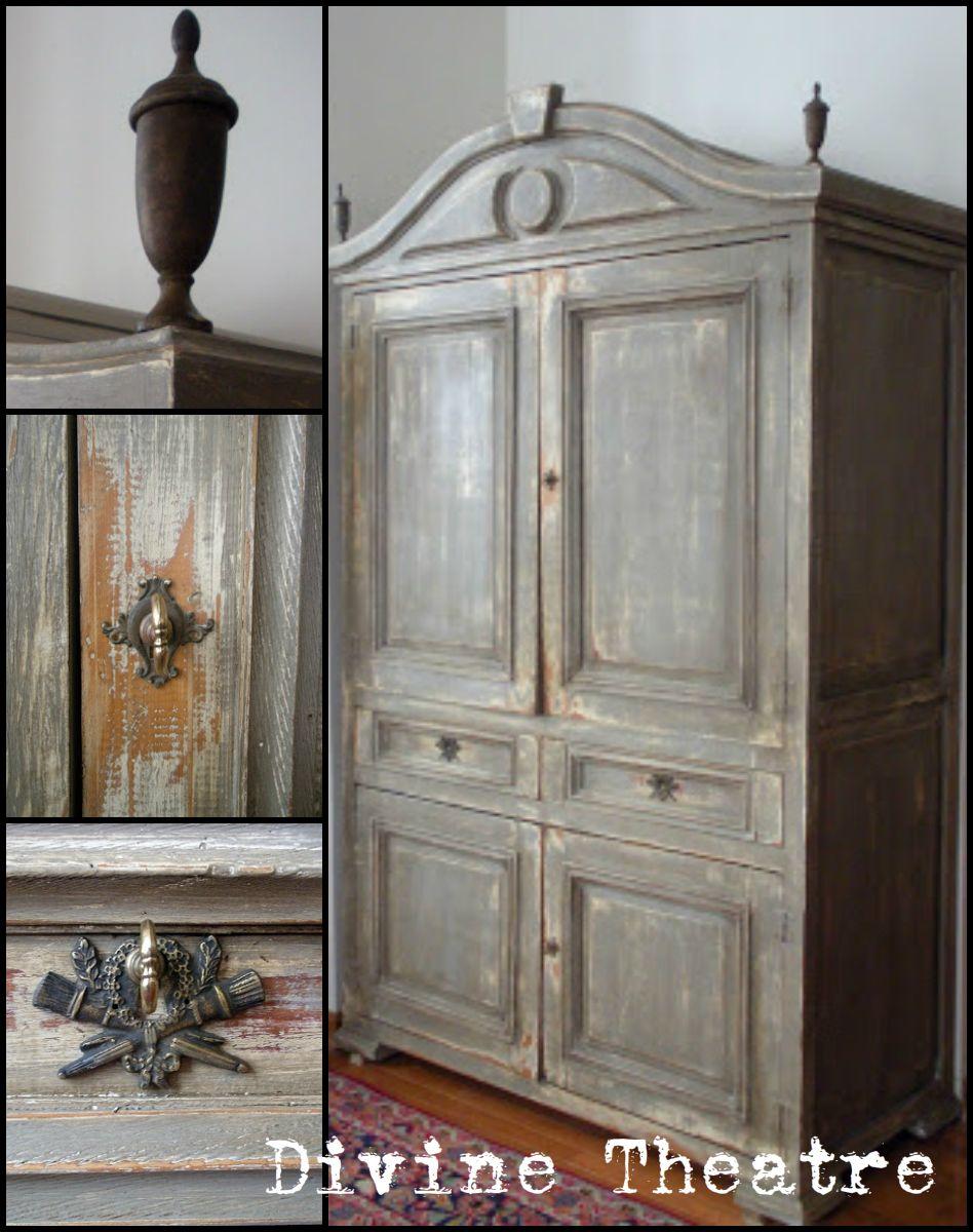Gustavian Armoire Tutorial Using Chalk Paint Decorative Paint By Annie Sloan Source Divine