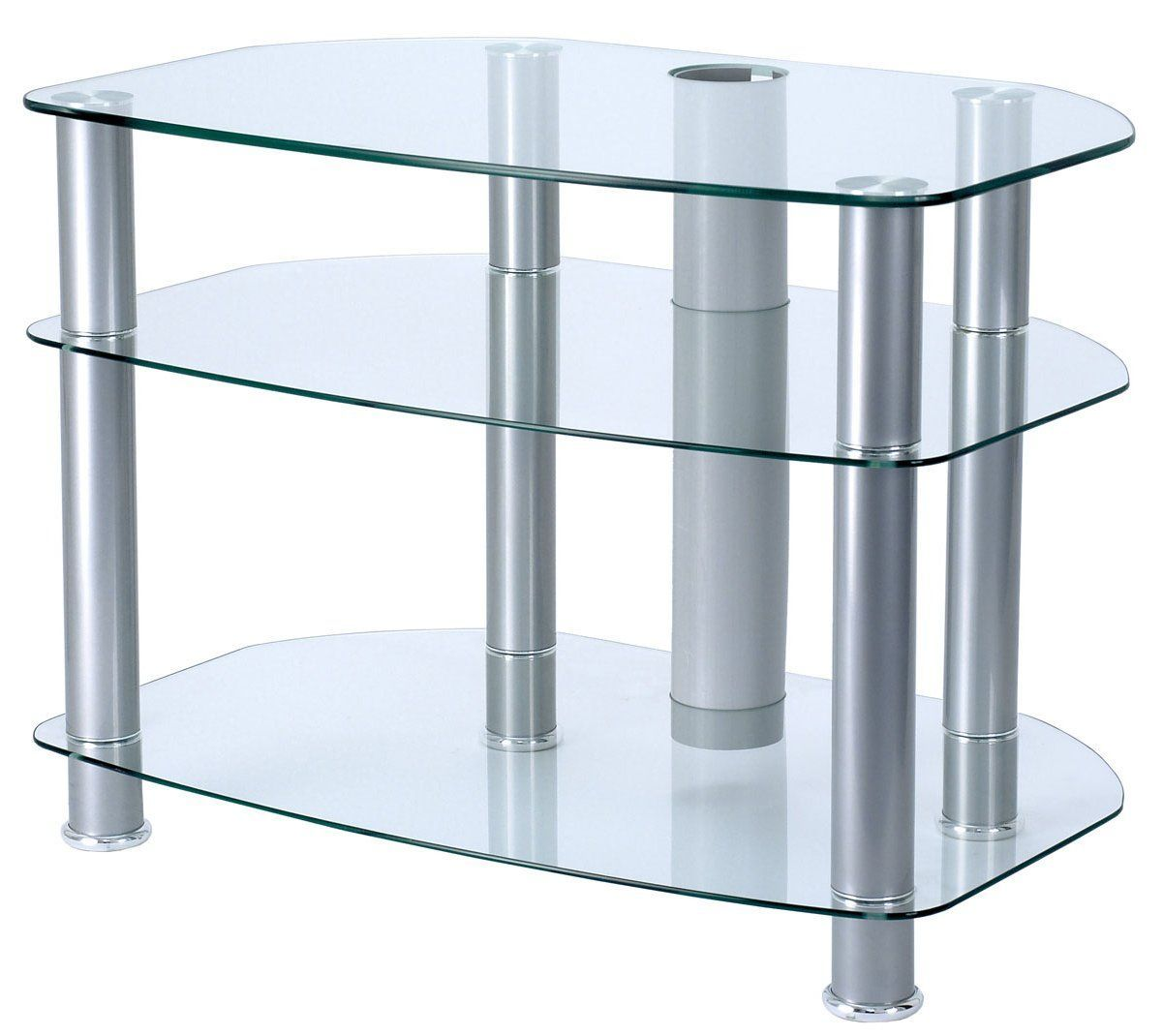 Alphason clear glass tv stand for up to tvs swiveltvstandideas