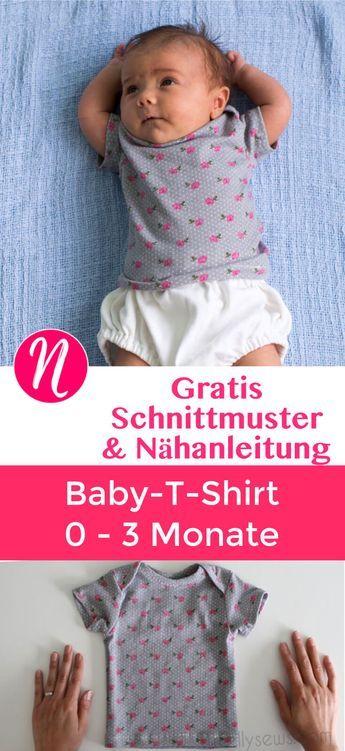 Photo of Baby T-Shirt – Freebook für 0 – 3 Monate