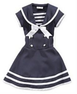 a7a58765035 sailor clothing for girls | Bonnie Jean Little Girl Sailor Dress. Available  at Macy's. Sizes 2-6x .