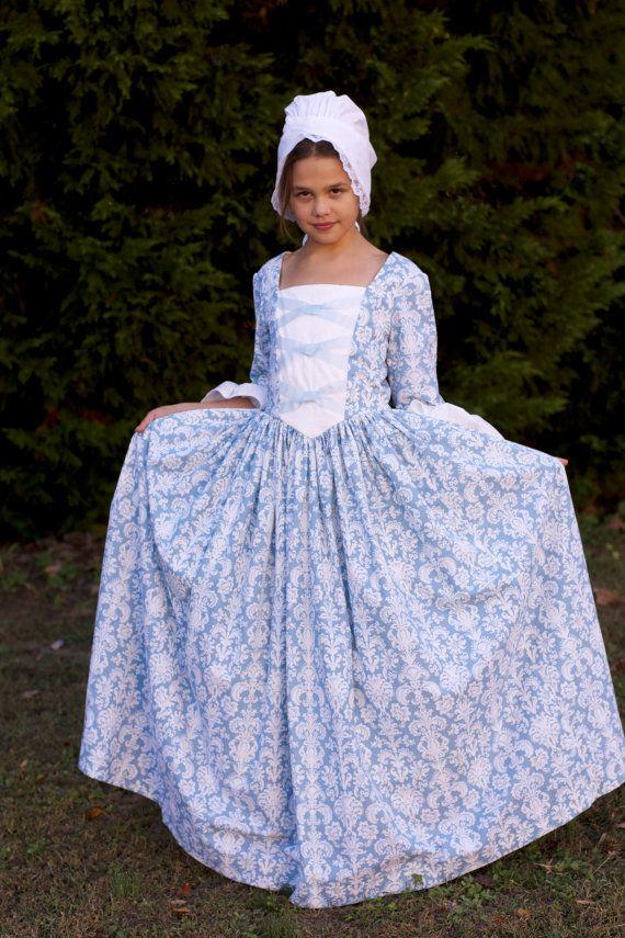 Custom Girls Colonial Dress sizes 3-8   Pinterest   American girls ...