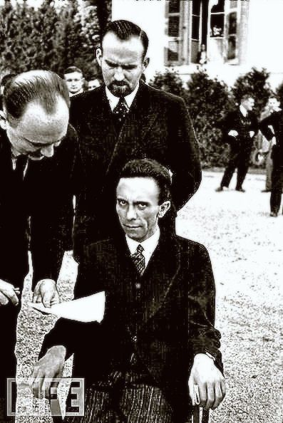 Want to see what hate looks like?  Here it is - Nazi Propaganda Minister Joseph Goebbels, upon hearing that his photographer - Alfred Eisenstaedt - was Jewish., He blamed the defeat of Germany on the German people and not Hitler. On May 1st, 1945, he gave poison to his six children and then shot his wife and  himself.