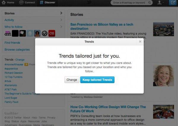 Twitter farà suggeriments de TT basats en la ubicació i las persones que seguim