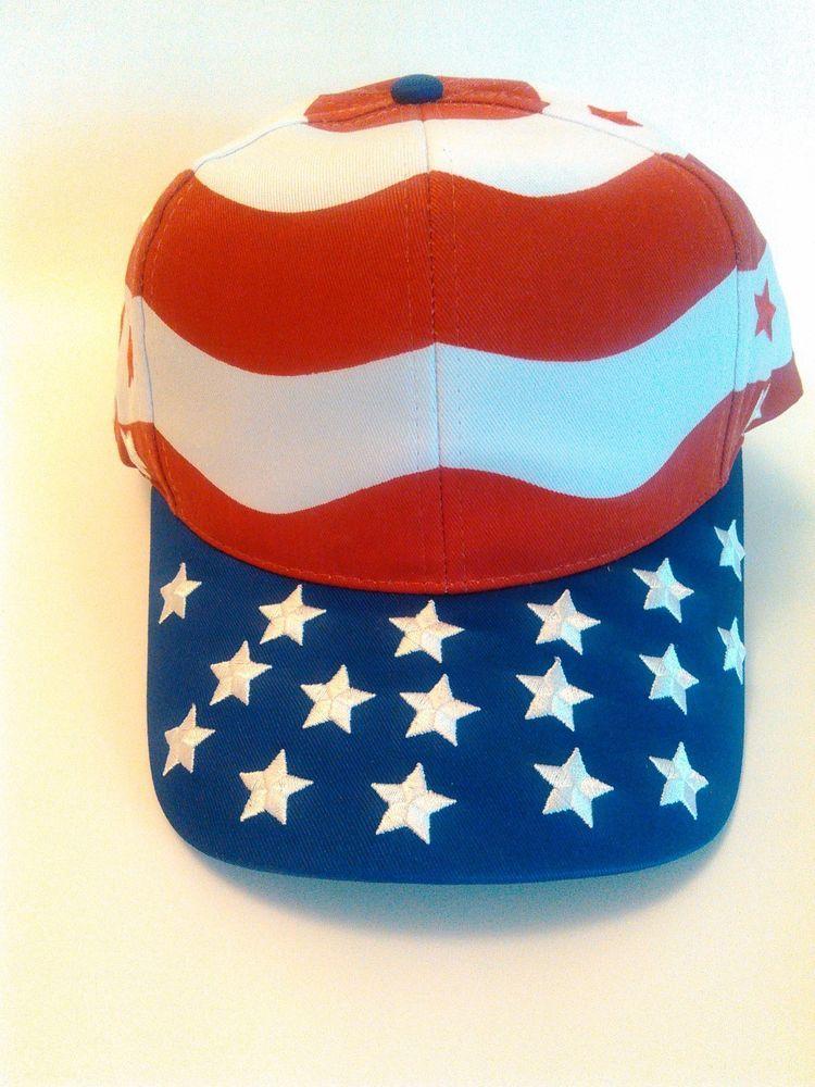 American Flag Baseball Cap, New Patriotic Independence Day USA Red, White, Blue #Unbranded #BaseballCap