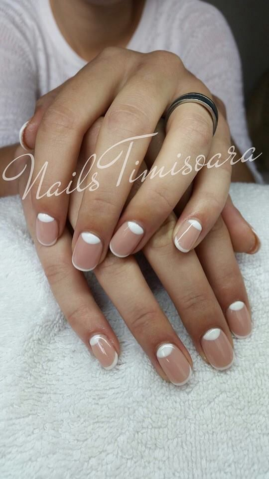 French nails 2015! They look perfect!so different and unique ...