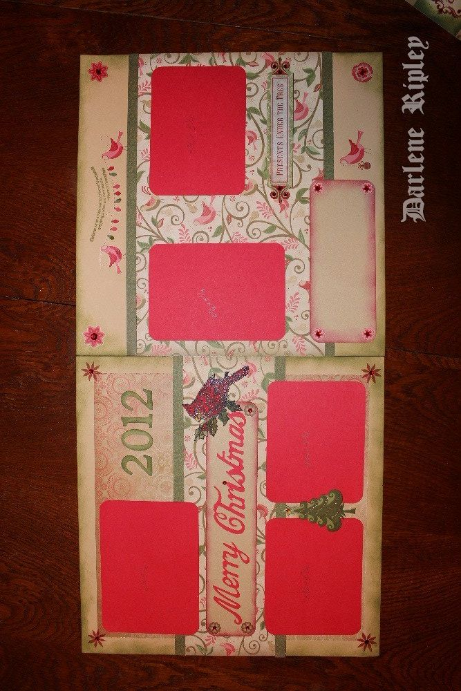 Scrapbooking Double Page Layout Ideas Images Scrapbook Christmas