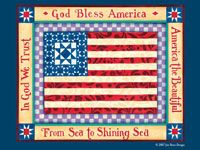 God Bless America background image for your computer