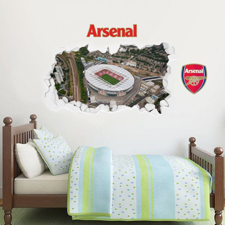 Best Smashed Emirates Stadium Aerial View Mural Wall Stickers 400 x 300