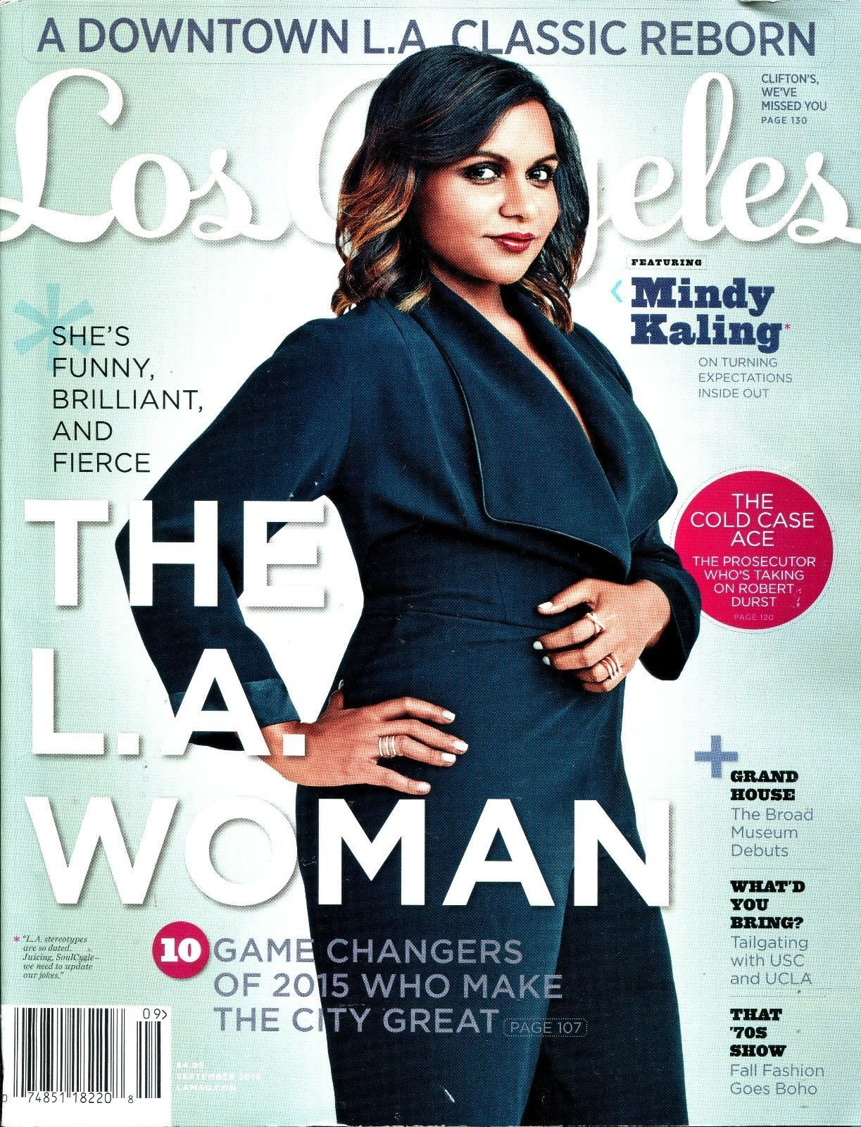 Mindy Kaling Cover. September 2015. Los Angeles Magazine. The L A Woman. Do not miss out on this deal. BUY NOW! Make this item yours now! | eBay!