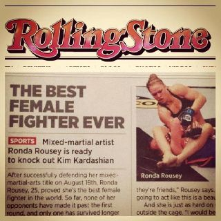The Best Female Fighter Ever | Rolling Stone Magazine  #ArmbarNation See more at RondaRousey.net