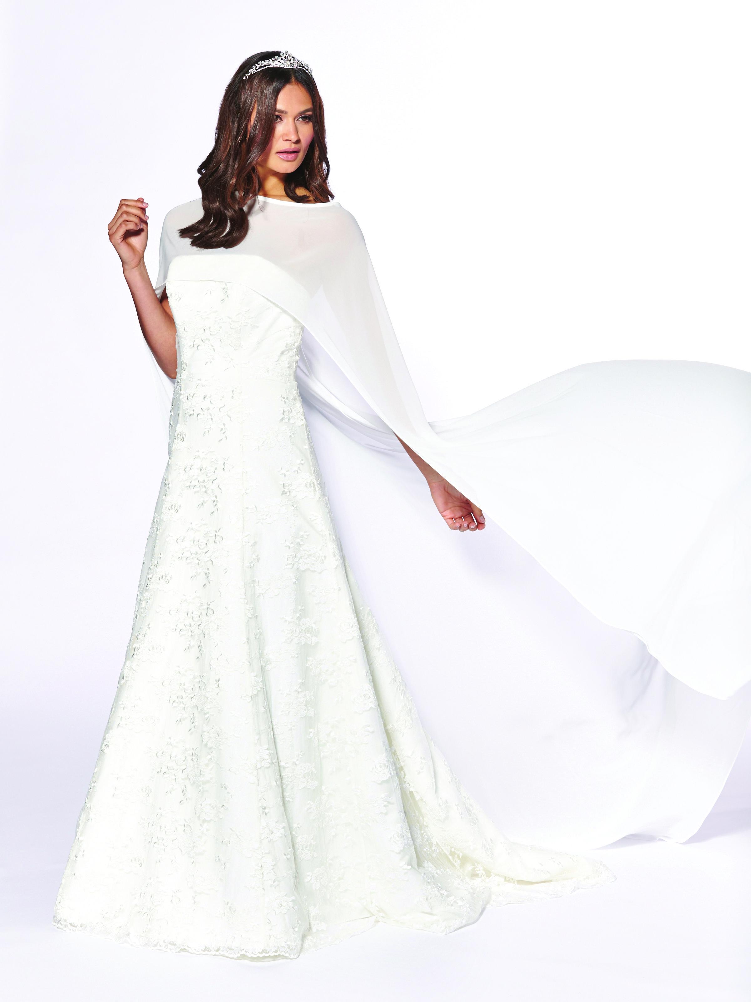 Winter wonderland wedding dress  Chiffon Bridal Cape GACAPE  Winter Wedding  Pinterest  Bridal