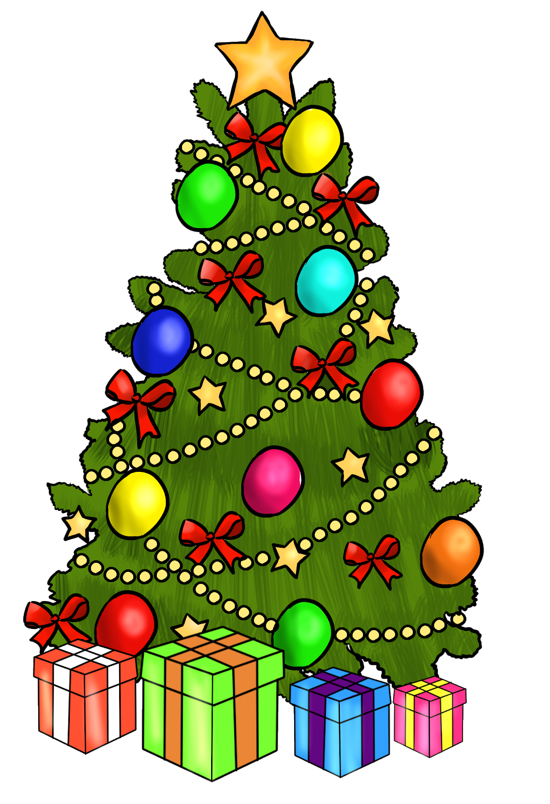 2019 Holiday Gift Guide Christmas Clipart Free Christmas Drawing Christmas Tree Clipart