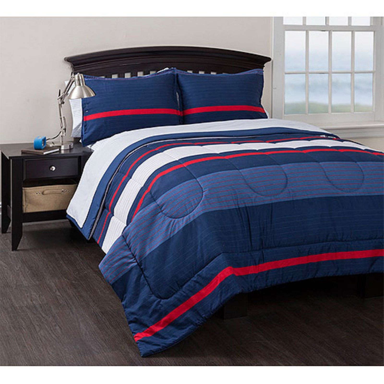 Coastal Stripe Reversible Bed in a Bag by American