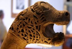 scandinspiration: Intricate Viking carving by Alaskan Dude on Flickr.