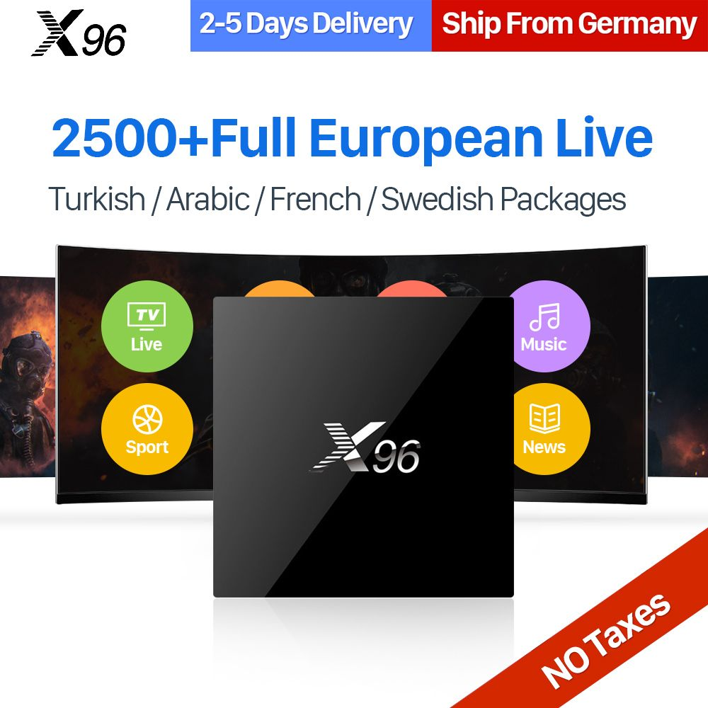 IPTV Europe 2500 Channels 2GB X96 Android 6 0 Smart TV Box 1