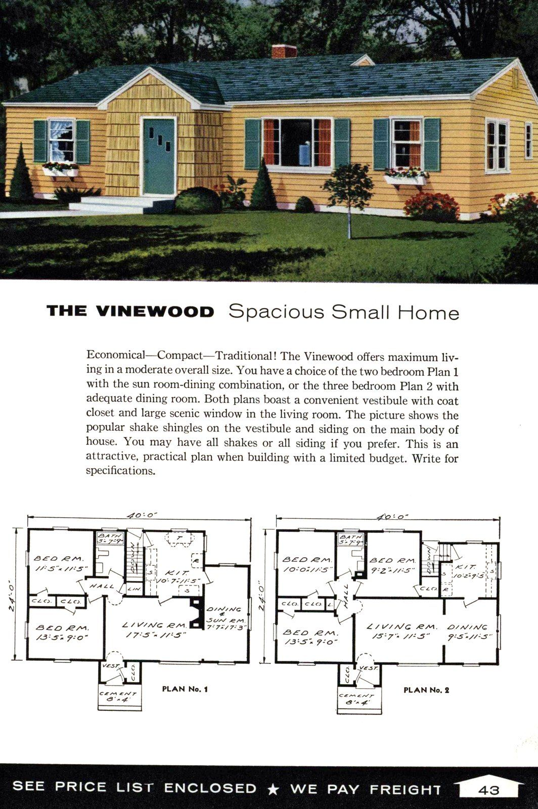 See 125 vintage '60s home plans used to design & build millions of mid century houses across America