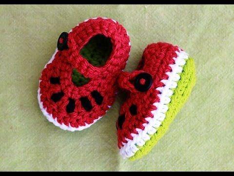 b8abeebb49ee VERY EASY crochet T-bar baby shoes   booties tutorial - YouTube ...