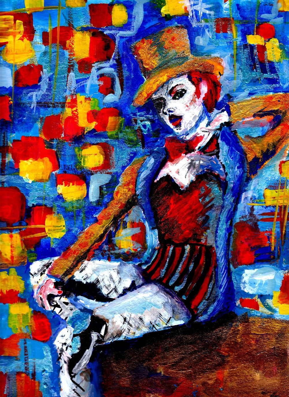 Rocky Horror Picture Art- Columbia  Acrylic Painting by  Antonia Hansen