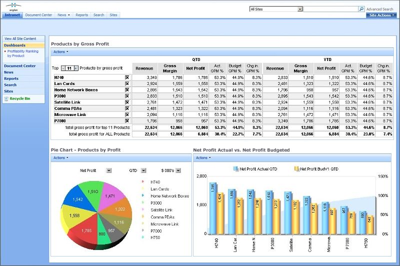 Financial Dashboard Financial Dashboard using arcplan Enterprise - new blueprint automation financials