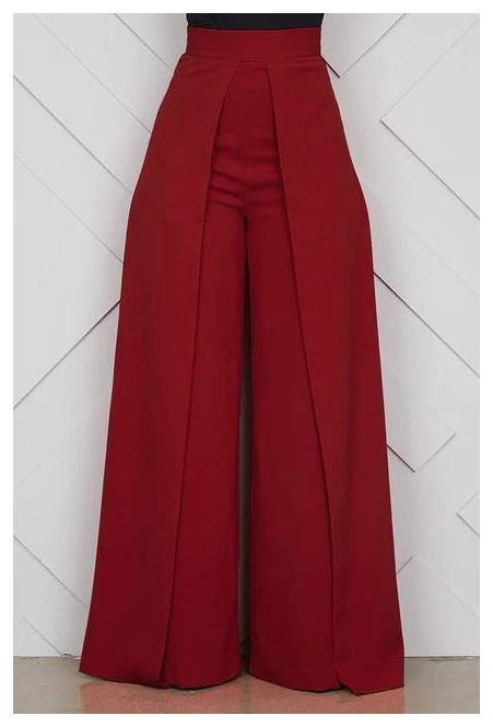 Chic High Waist Zipper Palazzo Pants For Women Casual Loose Wide Legrricdress Types Of Pants For Pants Women Fashion Fashionista Clothes Jumpsuit Fashion