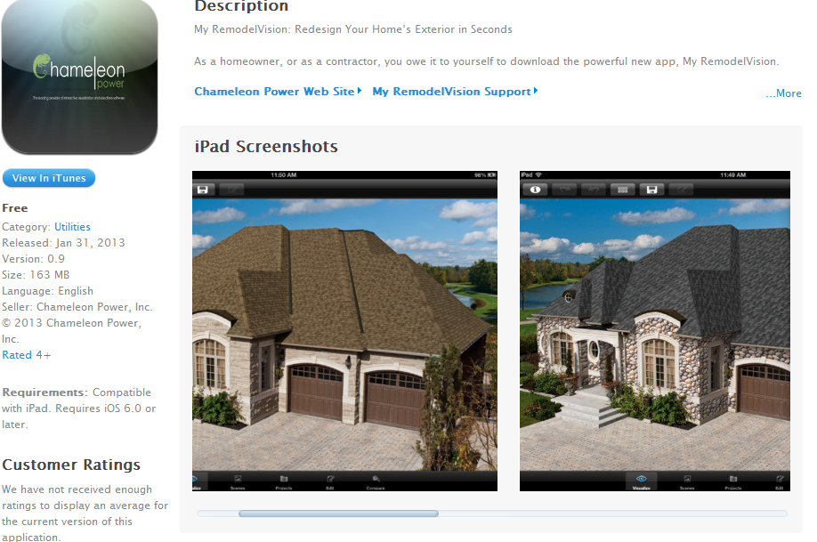 Have you tried our new home exterior visualizer iPad