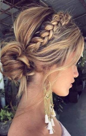 updos for medium length hair  guest hair braided