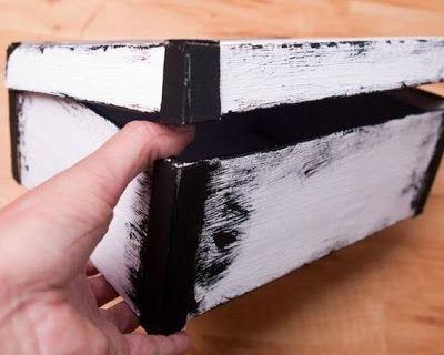 Manualidades como decorar caja de cartón