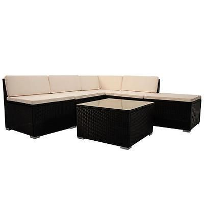 Polyrattan Tisch Gartenmöbel Lounge Rattan Poly Sitzgruppe ...