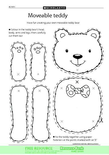 Click To Download Teddy Bear Crafts Teddy Bear Day Bear Crafts