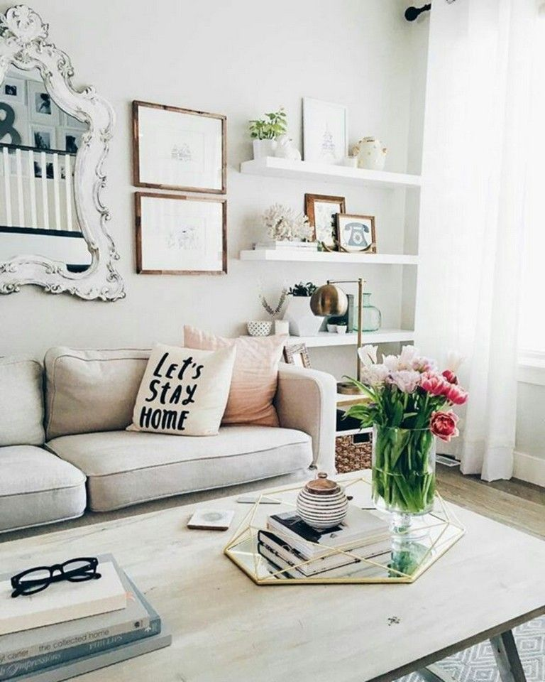 35 Beautiful Scandinavian Aesthetic Vintage Living Room Design Small Apartment Decorating Home Decor Room Inspiration