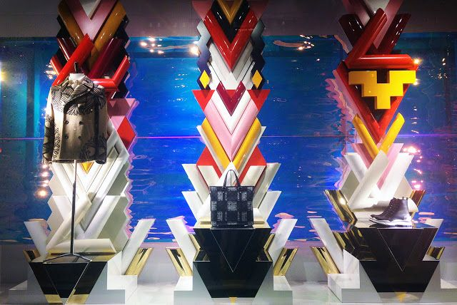 "LOUIS VUITTON,Fifth Ave., New York, ""Shape and Form"", photo by Stylecurated, pinned by Ton van der Veer"
