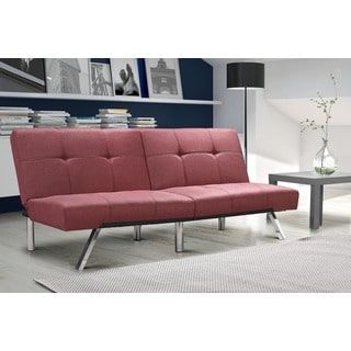For Dhp Layton Marsala Linen Futon Get Free Shipping At Com