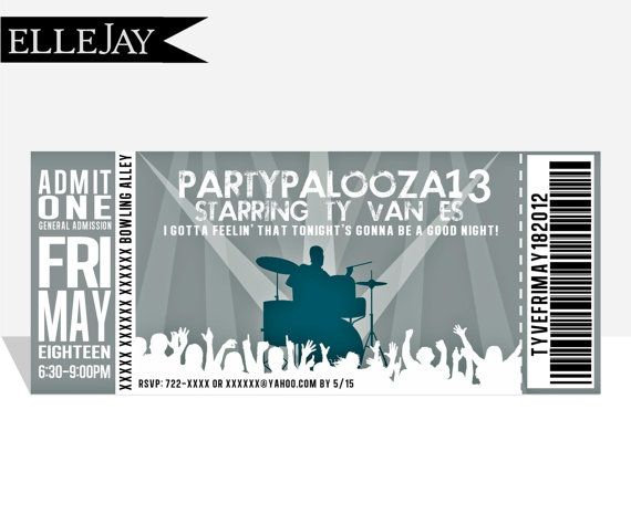 I might do something sorta like this for the choir concert - invitations that look like concert tickets
