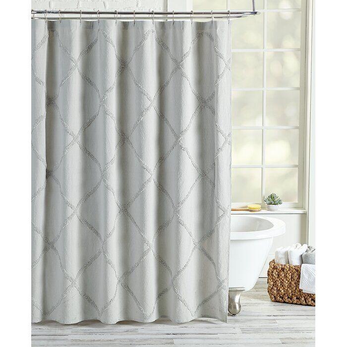 Agustin 100 Cotton Geometric Single Shower Curtain Shower Curtain Peri Home Bathroom Decor