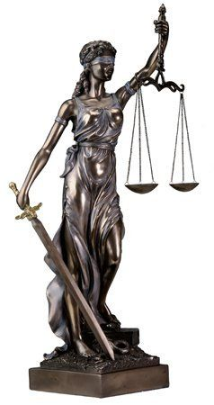 Lady Justice Statue Bronze Powder Cast Sculpture... Posture  1b401c59f3