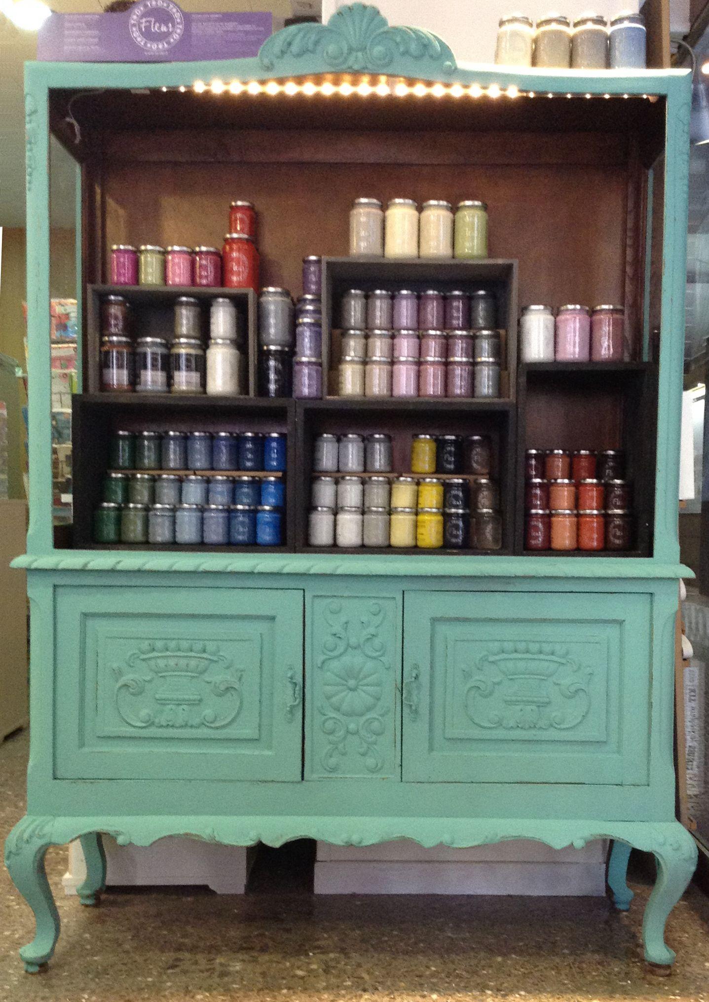 Mueble Antiguo Pintado Con Pinturas Fleur Http Www Tintaxina Cat  # Muebles Nauticos Antiguos