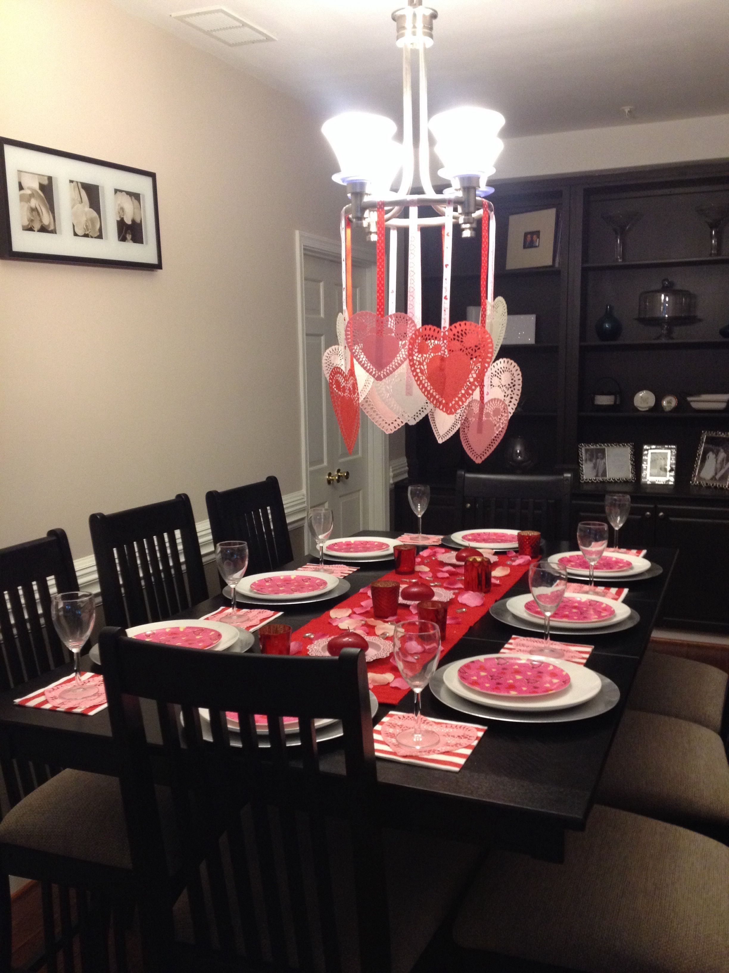 46 Cheap Valentine Table Decoration Ideas In 2020 Valentines Party Decor Valentine Day Table Decorations Family Valentines Day