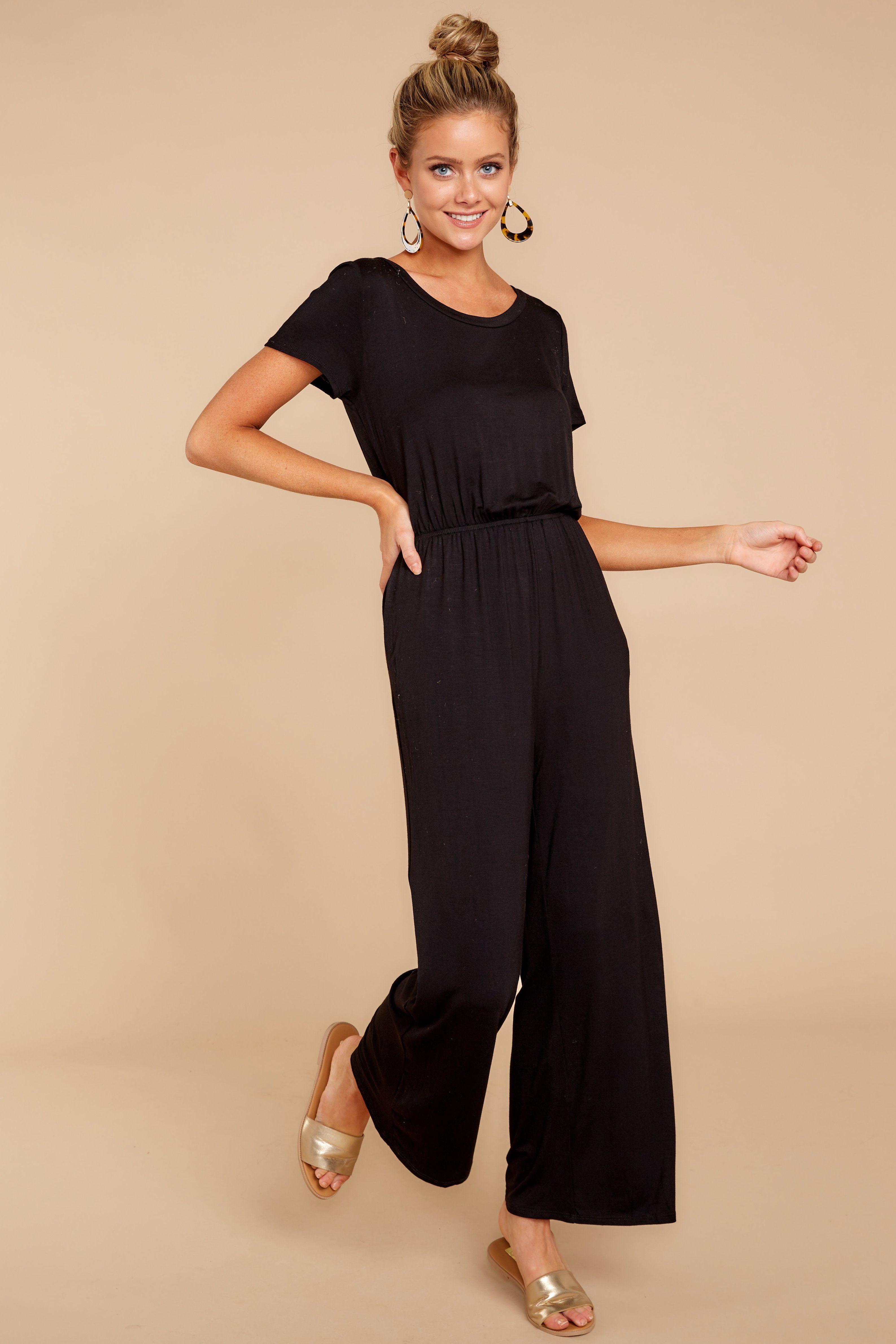 Pretty Black Jumpsuit Casual Jumpsuit Playsuit 42 00 Red Dress Boutique Casual Black Jumpsuit Casual Jumpsuit Black Jumpsuit Outfit [ 4761 x 3174 Pixel ]