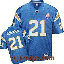 sale retailer 3e960 ab90f San Diego Chargers AFL 50th Anniversary #21 LaDainian ...