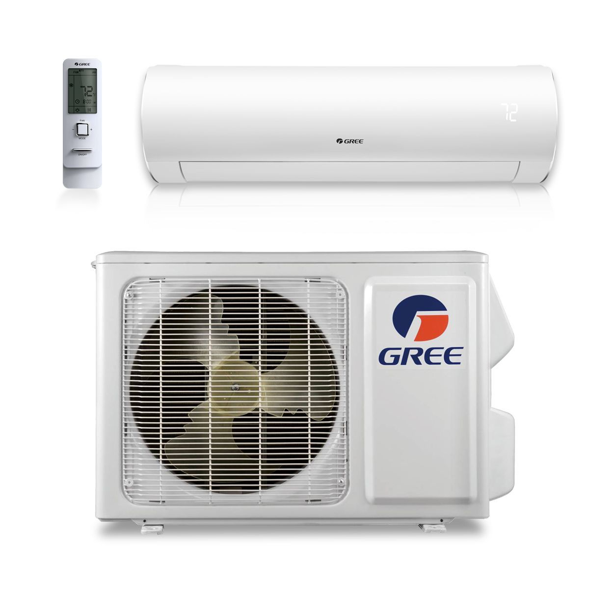 Gree 12 000 Btu 30 5 Seer Sapphire Wall Mount Ductless Mini Split Air Conditioner Heat Pump 208 230v Ductless Mini Split Heat Pump Ductless