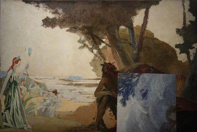 George Desvallières - La Rencontre dUlysse et de Nausicaa